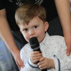 Даже малышу есть что сказать! Празднование Пасхи и презентация новой книги отца Виктора. 09.04.2018 г.