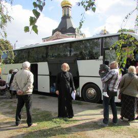 Посадка в автобус Паломническая поездка к мощам святителя Спиридона и блаженной Матроны