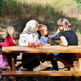 Дети легко заводят новые знакомства Выезд на природу, 4.09.2021 г.