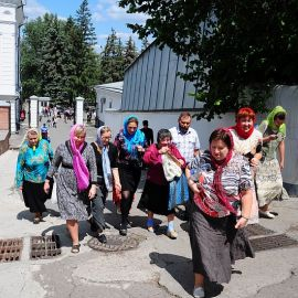 Начало подъема, Святогорье Паломничество. Поездка в Святогорскую Лавру. 27 мая 2012 г.
